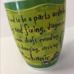 "Fine Porcelain Coffee Tea Mug ""Mechanic"""